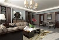 河源装修案例 新中式风格的客厅装修样板图